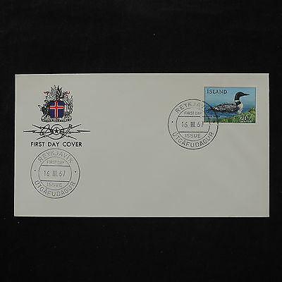 ZS-W085 BIRDS - Iceland, 1967, Fdc, Reykjavik, Great Franking Cover