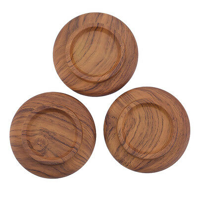 New 3pcs  Antiskid Round Acrylic Piano Caster Cup Feet Pad Rosewood Color