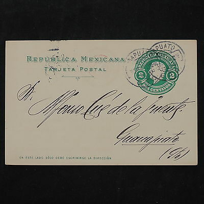 ZS-W170 MEXICO - Entire, Great Franking Airmail To Guanajuato Postcard