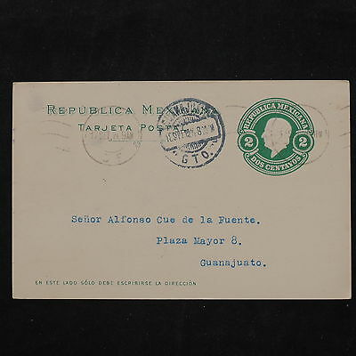 ZS-W199 MEXICO - Entire, 1914, Great Franking Airmail To Guanajuato Postcard