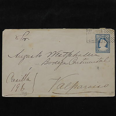 ZS-W218 CHILE - Entire, 1900, Great Franking Airmail To Valparaiso Cover