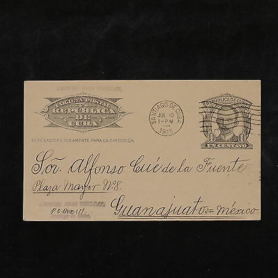 ZS-W222 US POSSESSION - Havana, 1915, Entire, Stationery, Great Airmail Cover