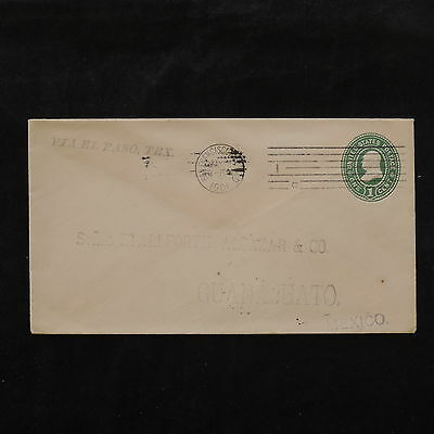 ZS-W230 US COVERS - Entire, 1901, Great Franking Airmail To Guanajuato Cover