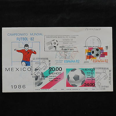 ZS-W349 MEXICO - Spain, 1982, Fdc Football., Great Franking Cover
