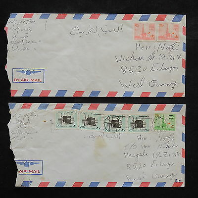 ZS-W411 SAUDI ARABIA - Covers, Great Franking Airmail To Germany, Lot Of 2