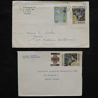 ZS-W417 JAPAN - Covers, Great Franking Airmail, Lot Of 2 Covers