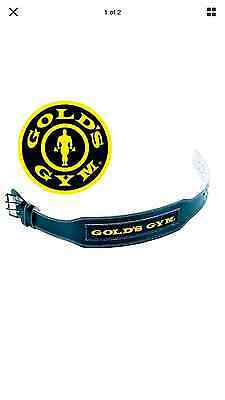 Gold's Gym Belt Weight Lifting 4'' Leather Lumber Back Support