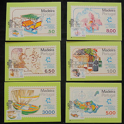 ZS-W675 PORTUGAL - Maximum Cards, 1980 World Tourism Conference, Lot Of 6 Covers