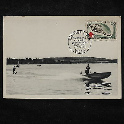 ZS-W751 FRANCE - Maximum Cards, 1963 Fdc, World Cup Skiing, Sports