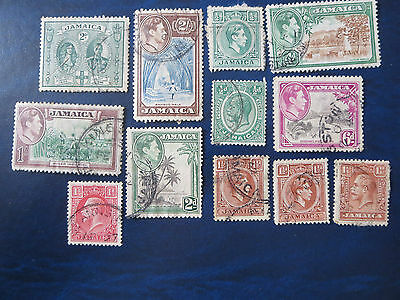 Old Jamaica Used Stamp Lot