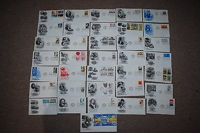 American  First Day Covers Including George Washington,Roosevelt Etc 1980's