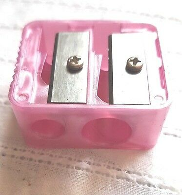 Body Collection Pink Double Pencil Cosmetic Eye Liner/lip Pencil Sharpener, New