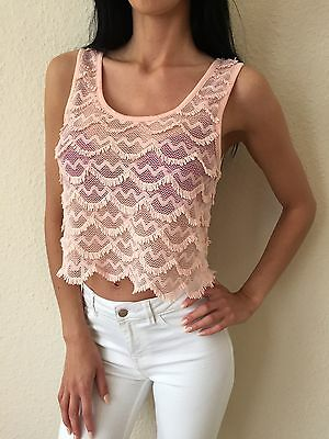 Topshop BNWT Nude Pink Sleeveless Crop Top Size 10 RRP £20