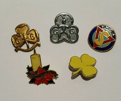 Job Lot Of Vintage Girl Guide, Ymca Metal / Enamel Pin Badges