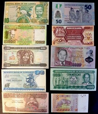 Africa  Lot of 10 Banknotes,UNC