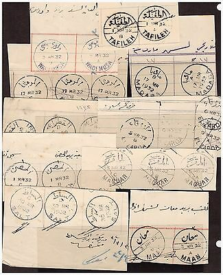 Jordan Proof strikes, collection of Town cancels of the 1930's w Indexes