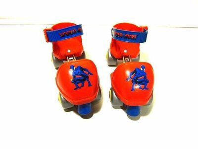 Spider-man Roller Skates Adjustable Toddler Young Child Plastic Wear Shoes With
