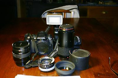 Minolta Digital Camera Lot with Lens for Parts