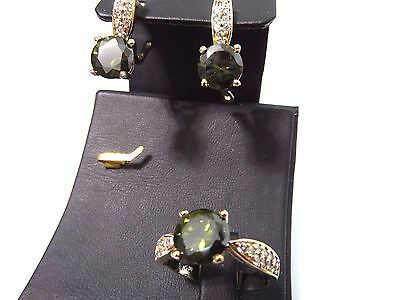 925 Silver Turkish Handmade Gemstone New Design Earring,,ring Sets