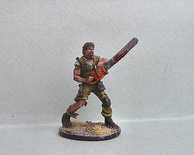 Zombicide - Eagle Chaz-(Chuck Norris) superbly painted & based. KS Exclusive