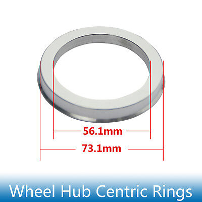 4pcs Hub Centric Rings 73.1mm to 56.1mm Alloy Aluminum Hubrings