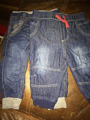 2 PAIRS OF BABY BOYS JEANS..3-6mths & 6-9mths USED