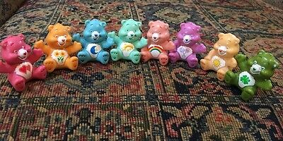 Lot 8 TCFC PVC Care Bear Figures Birthday Cake Toppers Plastic 2.5 inch Small