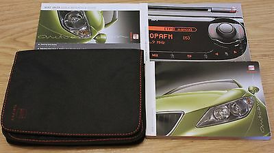 Seat Ibiza Handbook Owners Manual Wallet Audio Guide Mp3 2008-2012 T1799