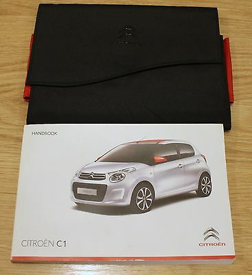 Citroen C1 Owners Manual Handbook Wallet Guide 2014–2017 T1788