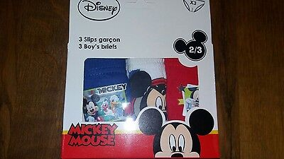 Lot de 3 slips Disney Mickey neuf emballé 2/3 ans