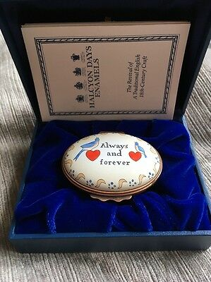 Halcyon Days Enamels - Always And Forever Box. Lovely Gift.