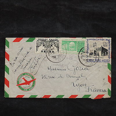 ZS-X079 MEXICO - Cover, 1949, Airmail To France