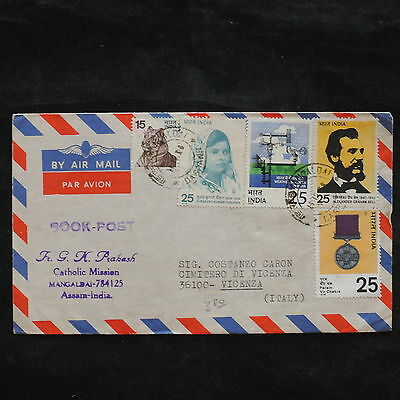ZS-X181 INDIA IND - Airmail, Assara To Italy, Catholic Mission Cover