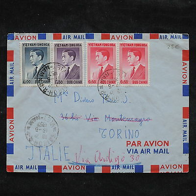 ZS-X192 VIETNAM - Airmail, 1957, Great Franking To Italy Cover
