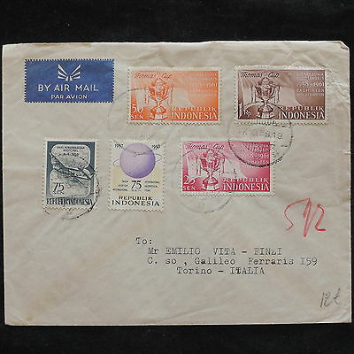 ZS-X203 INDONESIA - Airmail, 1958, Great Franking To Italy Cover