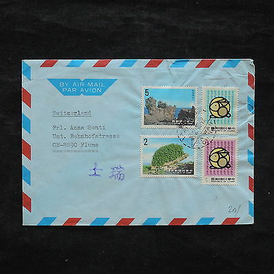 ZS-X291 TAIWAN - Nature, 1985, Airmail To Switzerland, Great Franking Cover