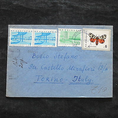 ZS-X318 BULGARIA - Butterflies, 1963, Great Franking To Italy Cover