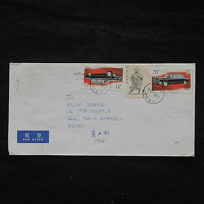 ZS-X349 CHINA - Cars, Great Franking Airmail To Italy Cover