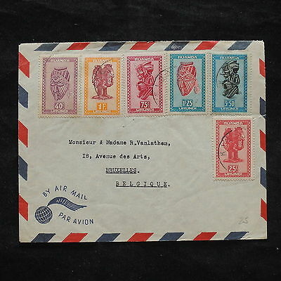 ZS-X370 COSTUMES - Rwanda, Folklore, Great Franking Airlmail To Belgium Cover
