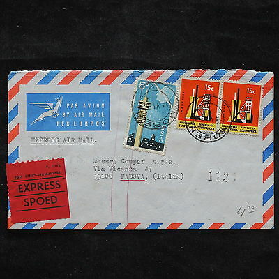 ZS-X385 SOUTH AFRICA IND - Airmail, Great Franking To Italy Cover