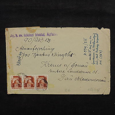 ZS-X446 HUNGARY - Cover, Strip, Great Franking