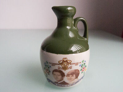 Rutherfords commemorative whisky miniature - Charles & Diana Royal Wedding 1981