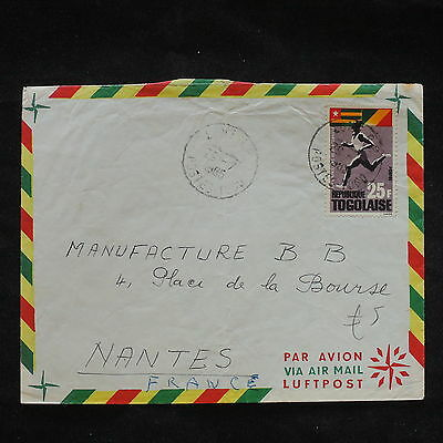 ZS-X743 TOGO IND - Airmail, 1965, Great Franking To Nantes, France Cover