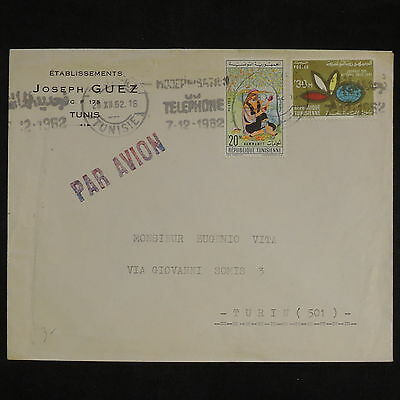 ZS-X788 TUNISIA IND - Cover, 1962, Airmail To Italy, Joseph Guez