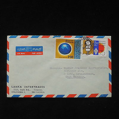 ZS-X875 SRI LANKA - Cover, Girl Guides, Airmail To Germany, 1978