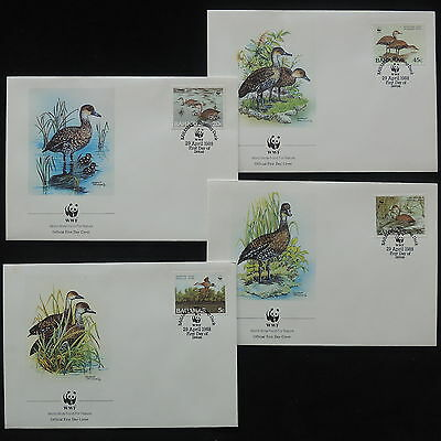 ZS-Y002 BIRDS - Bahamas Ind, Wwf, Fdc, 1988, Great Lot Of 4 Covers