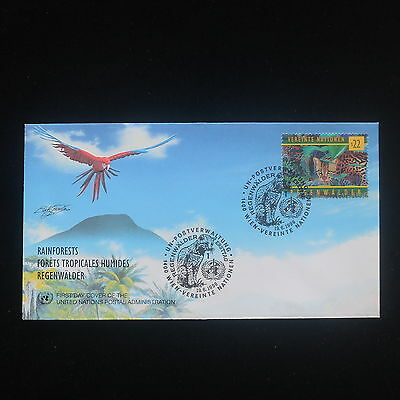 ZS-Y027 WILD ANIMALS - United Nations, 1998, Fdc, Rainforest Cover