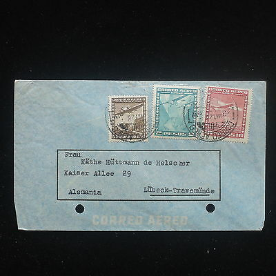 ZS-Y093 CHILE - Aviation, Airplanes, 1928, Airmail To Germany Cover