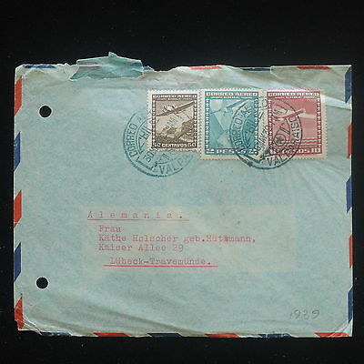 ZS-Y094 CHILE - Aviation, Airplanes, 1939, Airmail To Germany Cover