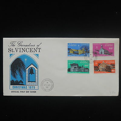 ZS-Y108 CHRISTMAS - St Vincent, 1975, Fdc, The Granadines, Church Cover